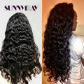 Unprocessed Glueless Human Full Lace Wigs Loose Deep Wave Brazilian Virgin Hair Wig Bleached Knots With Baby Hair