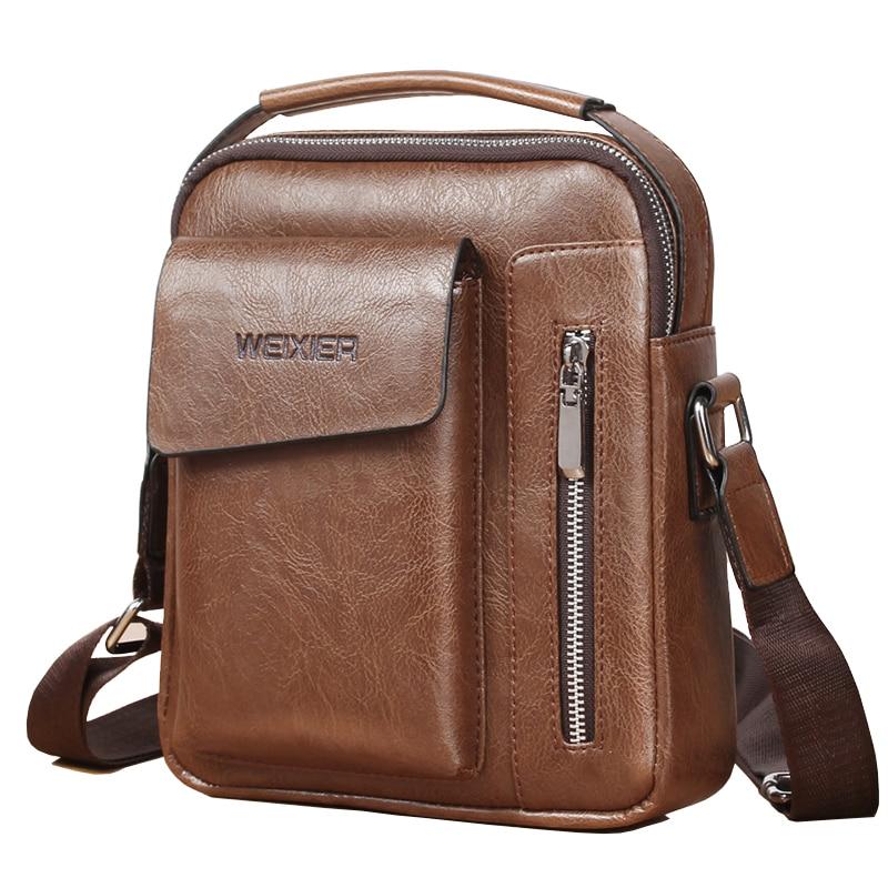 NIBESSER Vintage Messenger Bag Men Shoulder bags Pu Leather Crossbody Bags For Men Bags Retro Zipper Man Handbags