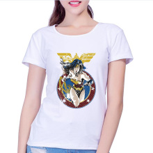 Wonder Woman T-shirt Women Asian Size Casual Tops Tshirt Fantasy Action Movie Print Summer Tops T Shirt