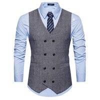 Moda Erkekler Ceket Suit Yelek Rahat Iş Elbise Gömlek Yelek Üst Resmi Gömlek Yelek Slim Fit Katı Dış Giyim Tops Toplantı