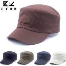 New Women Men Fashion Summer Adjustable Classic Army Plain Vintage Hat Cadet Military Cap