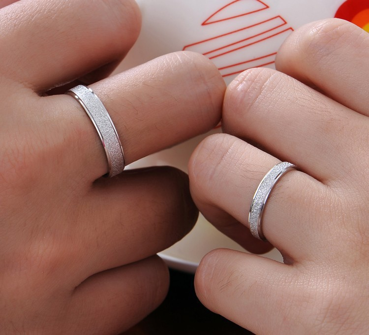 High quality fashion lovers couple rings 925 sterling silver ladies wedding ring jewelry gift drop shipping women men no fade in Wedding Bands from Jewelry Accessories