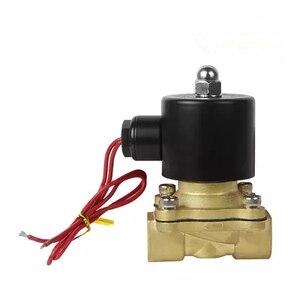 """Image 2 - Freies Verschiffen Heiße Neue 1/4 """", 1/8"""", 1/2 """", 3/4"""", 1 """", 2"""", AC220V, DC12V/24 V Elektrisches Magnetventil Pneumatische Ventil für Wasser Öl Luft Gas"""