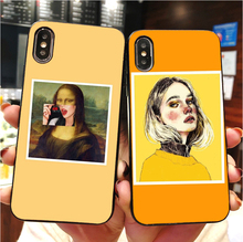 Great art aesthetic van Gogh Mona Lisa painting David Soft TPU phone cover for iPhone MAX XR XS X10 5 5S 5SE 6 6S 7 8 8Plus