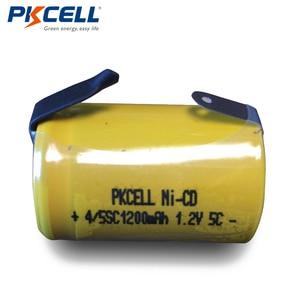 Image 2 - 8x4/5 Sub C 1200mAh 1.2V 4/5 SC NiCd akumulator ni cd 4/5SC płasko zakończony zakładkami PKCELL