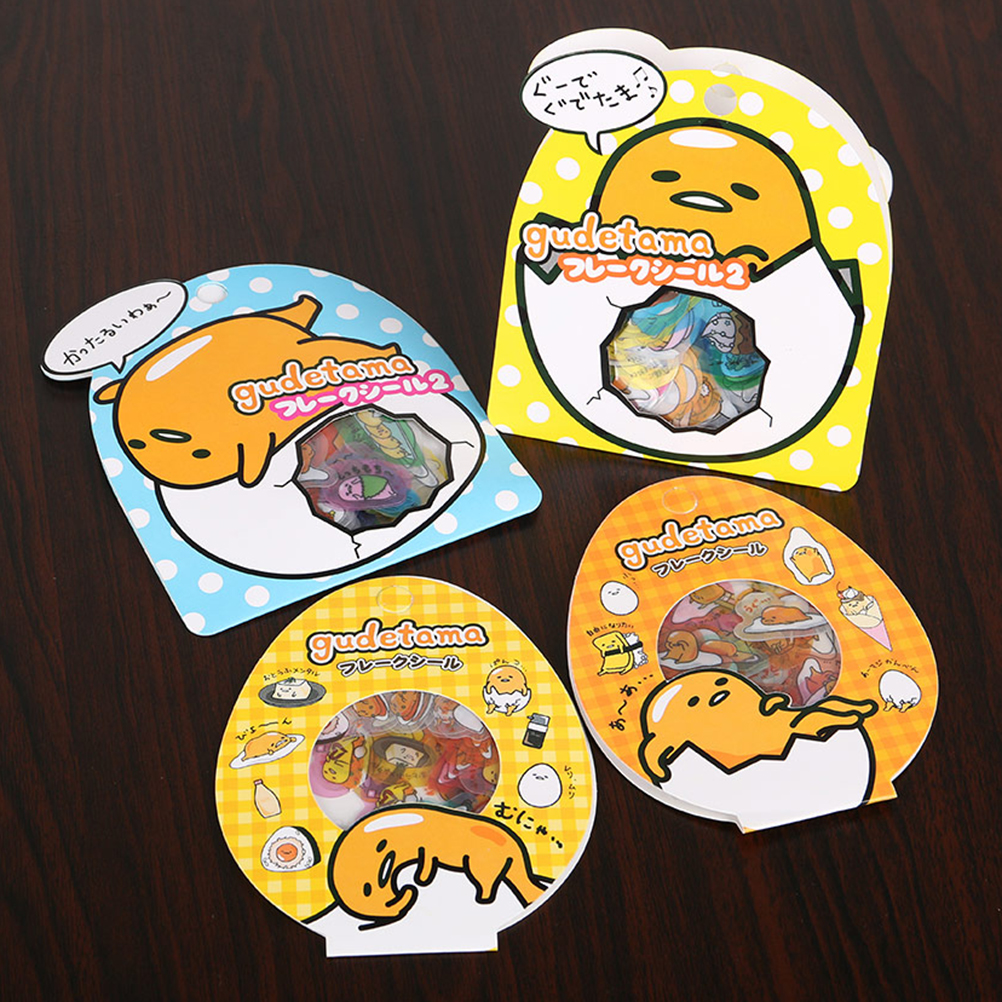 60 PCS/Pack Sanrio Gudetama Lazy Egg Sealing Stickers Diary Label Stickers Pack Decorative Scrapbooking DIY Stickers 3*Pack