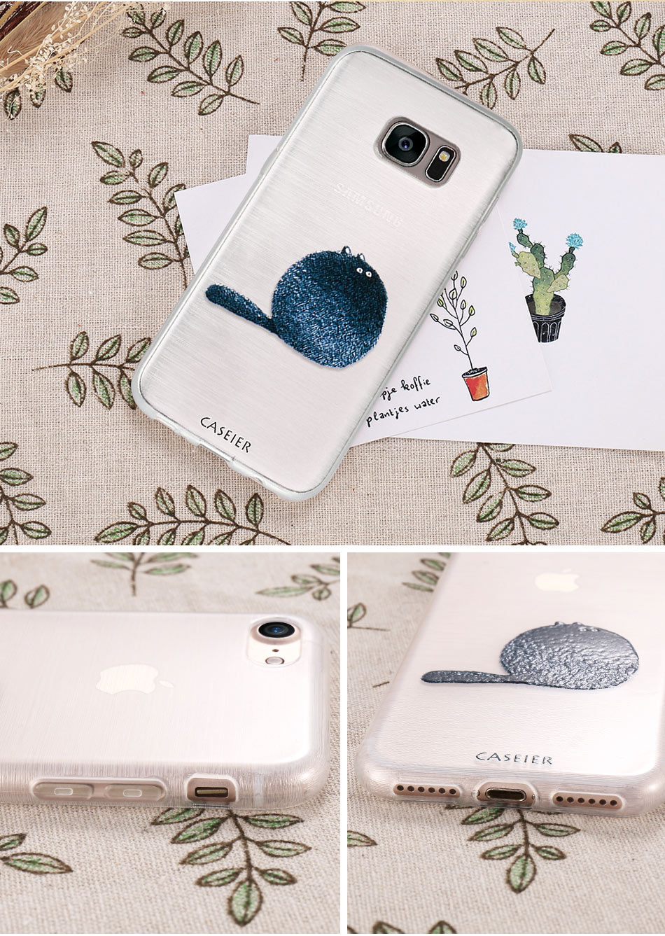 Cute Cat Soft Silicone Shell Case For Samsung Phones