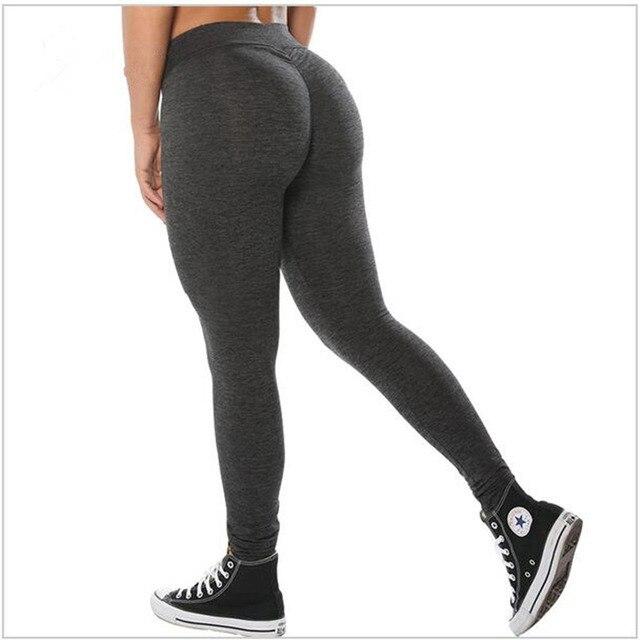 0ed1a1236 Women Push Up Leggings Casual Workout Black Polyester Fitness Legging High  Waist Leggings Jeggings Women