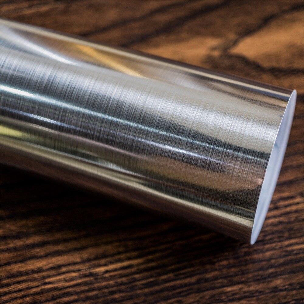 Brushed Metallic Silver Gold Film Self Adhesive Stainless Steel  DIY Wallpaper Peel Sticker