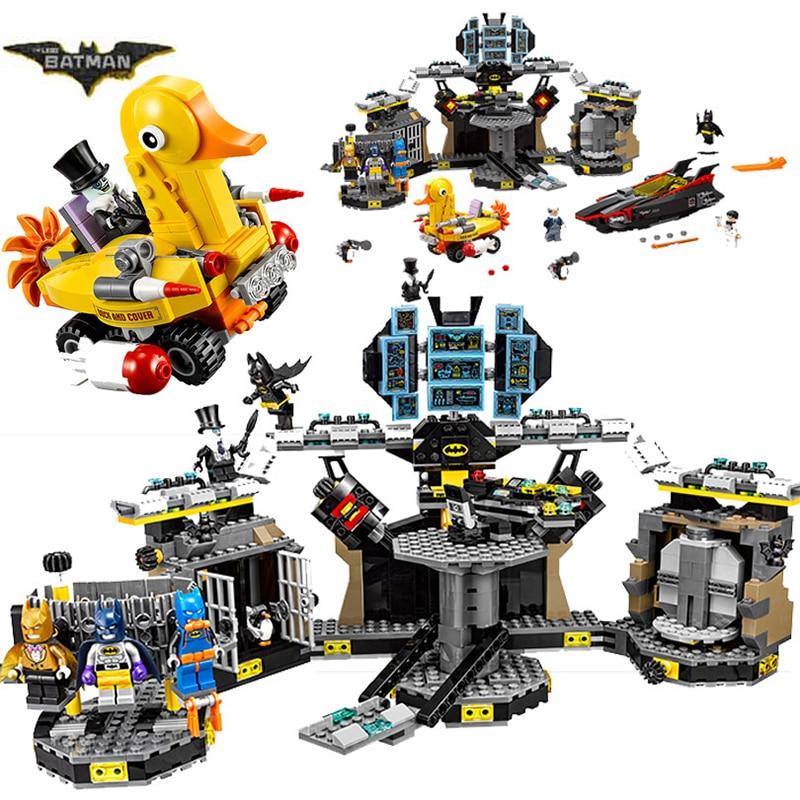 Bela 10636 Batman Movie Batcave Break-in Man-Bat Bricks Sets Building Block Toys Compatible Lepin Batman 70909
