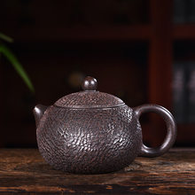 purple clay pot genuine hand-made raw ore black cinnamon mud Black Diamond imitation Tiexishi pot Kungfu Teapot Tea Set(China)