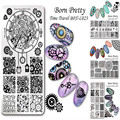 1 Pc BORN PRETTY Nail Stamping Template Floral Goemetry Rectangle Plate Manicure Nail Art Image Plate BPX-L017-L023