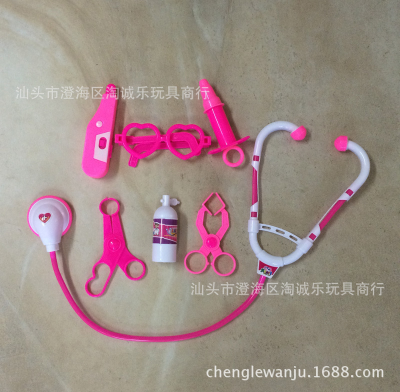 1 random delivery child play house toy simulation doctor toy baby injection needle stethoscope