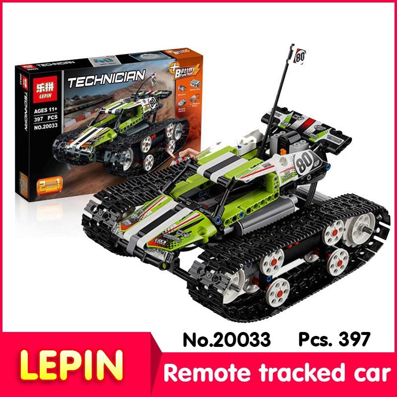 ФОТО LEPIN 20033 631Pcs with original box Technic Series Electric Motor Tracked Off-road Vehicle Model Building Blocks Toys 42065