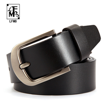 [LFMB]Belt Men Genuine Leather Belt,Famous Brand Belt Men 100% Good Quality Cowskin Men's Belts for Men,Strap Male