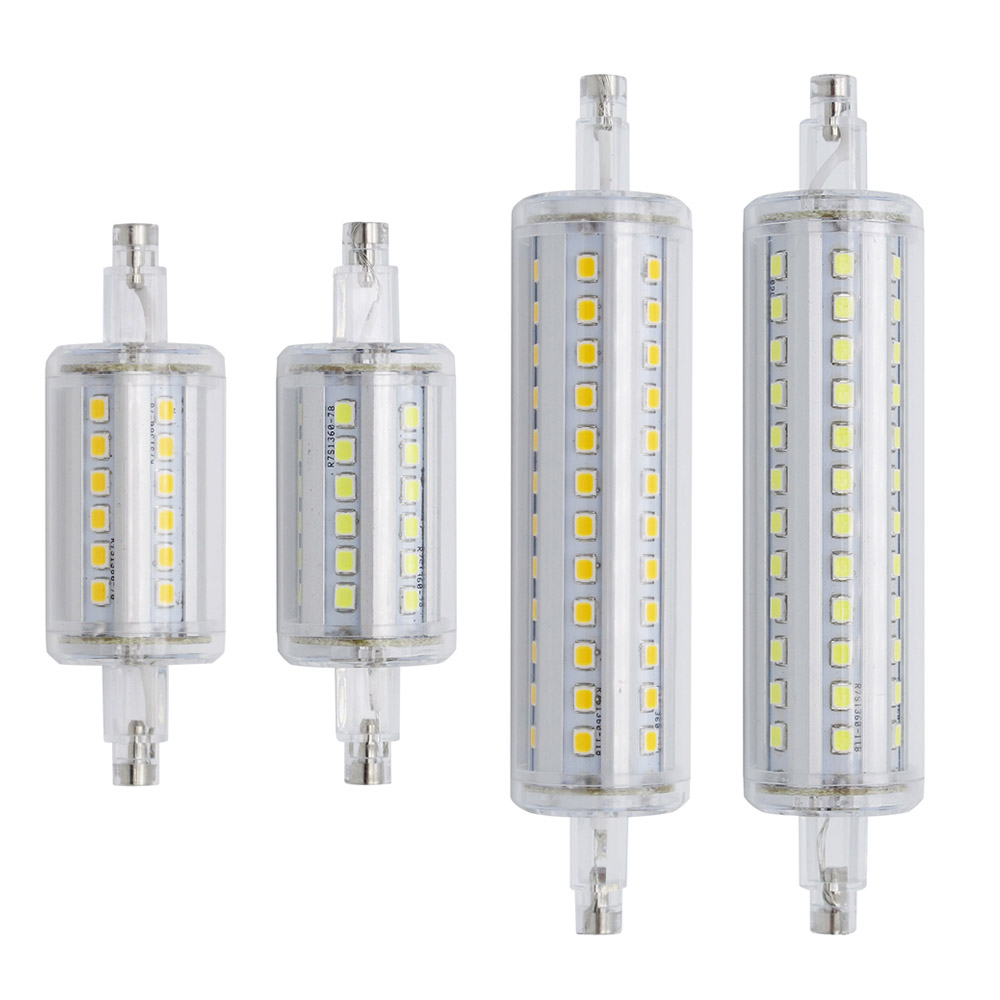 Newest Dimmable R7S Bulb 220V 15W 78mm 25W 118mm Bombillas Lamp SMD2835 Led Light For Lawn Floodlight 220V 110V