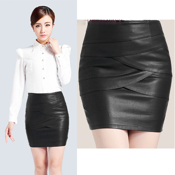 2014-New-Korean-Style-Formal-OL-Leather-Skirt-Women-Elegant-Black-Short- Skirt-Washed-Fashion-Femal.jpg