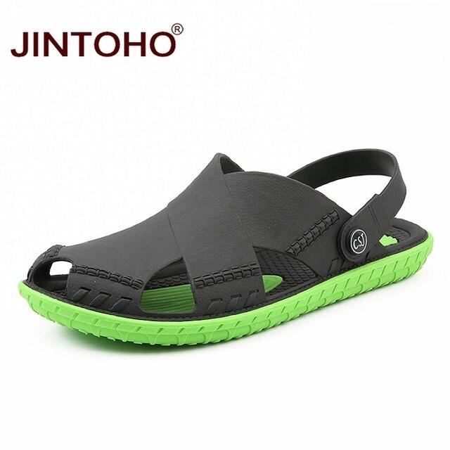 JINTOHO letnie męskie sandały moda lato plaża buty sandały plażowe na świeżym powietrzu mężczyzna sandały 2019 Sandalias męskie