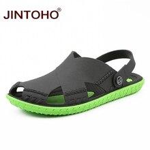 Jintoho 여름 남성 샌들 패션 여름 해변 신발 캐주얼 비치 샌들 야외 남성 샌들 2019 sandalias 남자