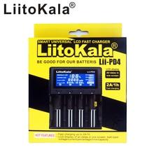 LiitoKala Lii PD4 LCD Intelligent 18650 Chargeur de batterie DAFFICHAGE À CRISTAUX LIQUIDES Pour 21700 20700 18650 18350 26650 22650 14500 NiMH Batterie Chargeur Intelligent