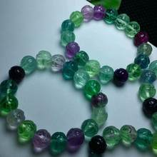 Natural Colorful Fluorite Crystal Beads Stretch One Bracelet AAA 12mm(China)