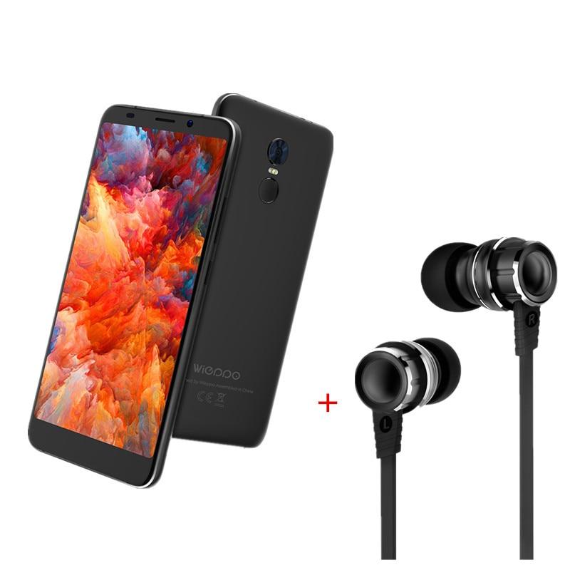 WIEPPO S8 8:9 Display MTK6737T Mobile Phone Android 7.0 2G RAM 16G ROM Quad Core 13.0MP Dual Cameras Fingerprint Smartphone