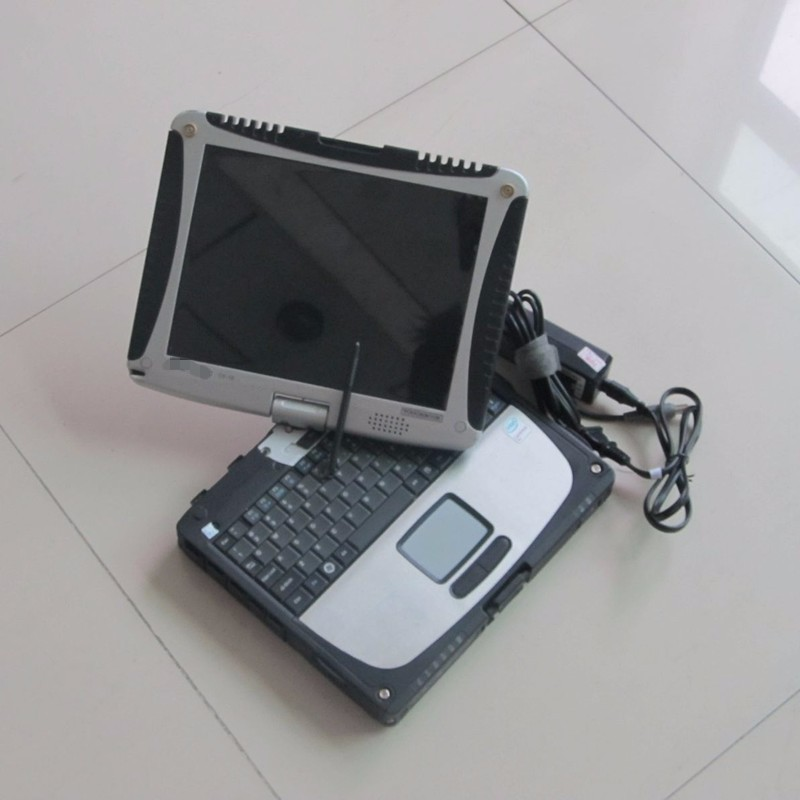 <font><b>cf</b></font> <font><b>19</b></font> laptop <font><b>toughbook</b></font> 4G ram rotate touch screen second hand auto diagnostic pc choose hdd for mb star c3 c4 c5 for bmw icom image