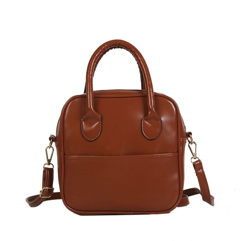 Women\'S Handbag, Summer Ancient Soft Leather Bucket, Simple Shoulder Shoulder Bag, Port Style.