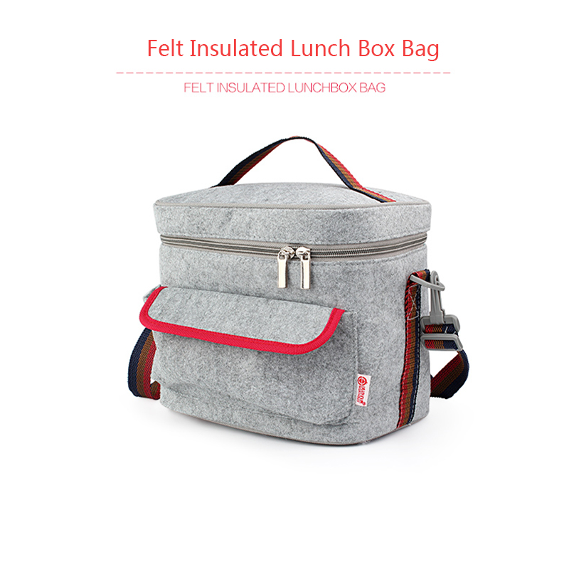 Fashion 3 Layers Thermal Insulation Bags Felt + Tin Foil Feeding Fruit Milk Insulation Bag Stroller Cooler Picnic Waterproof Bag Clear-Cut Texture