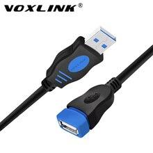 VOXLINK Cable de extensión USB 2,0 para PC, portátil, macho a hembra, Cable de extensión para sincronizar datos, 1M, 1,8 M, 3M, 5M