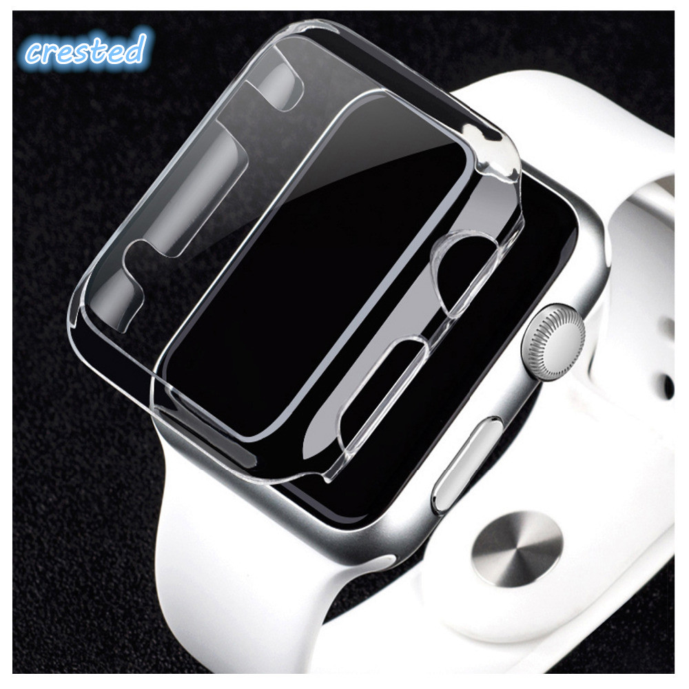 CRESTED Watch PC Frame protective Case for Apple Watch band 42mm 38mm iwatch series 3 2 1 Colorful plating cover shell series 1 2 3 soft silicone case for apple watch cover 38mm 42mm fashion plated tpu protective cover for iwatch