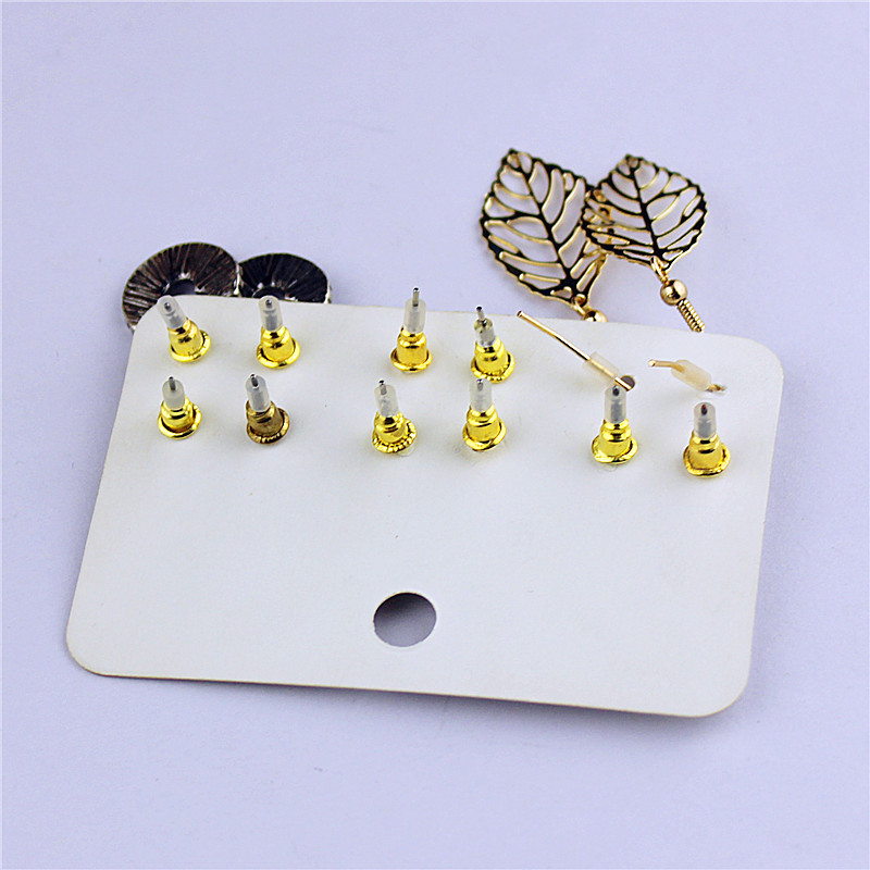 New popular womens jewelry wholesale Girls Birthday Party cross ear nail green suit leaf type ear ring free shipping