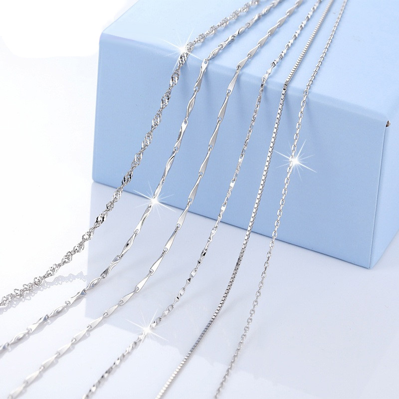Gemlove 925 Sterling Silver Chain,Box Chain,Snake Chain,Twisted Singapore Chain,Link Chain, Rolo Chain,Figaro Chain,Rope Chain