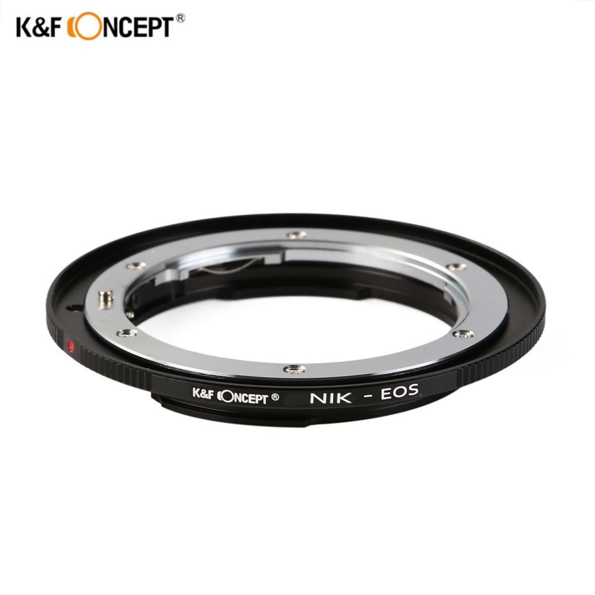 K & F CONCEPT Bague D'adaptation D'objectif Pour Nikon F AI Ai-s Lentille Pour Canon EOS EF Caméra 600D 60D 5D 500D