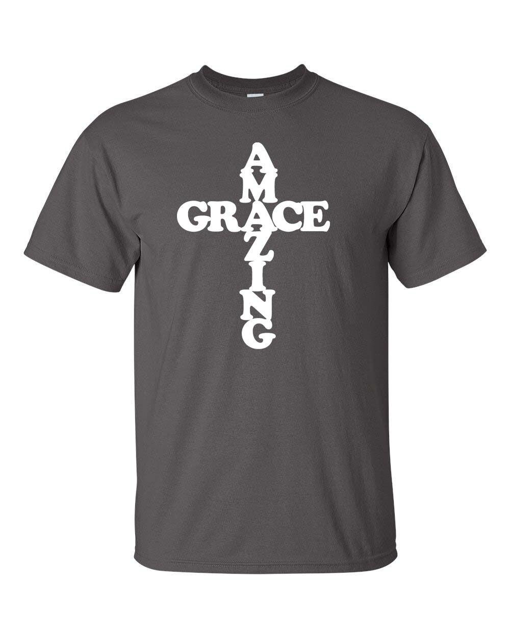 2018 mode Baumwolle T-shirt Erstaunliche Gnade in Kreuz Christian Jesus  Gott Kreuz Inspirational Männer