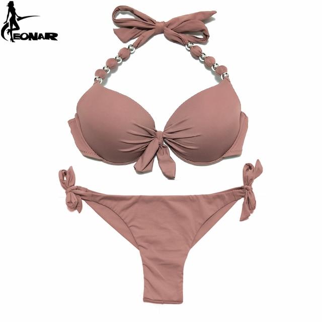 Bademode EONAR Push Up Bikini 2018 Women Bandage Swimsuits Brazilian Cut Bottom Bikini Set Bathing Suits maillot de bain femme Swimwear 5