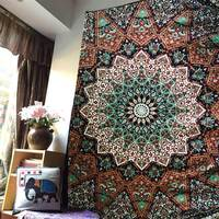 Mandala style plaisley wall hanging cloth ,multi function tapestry 150*200cm, table cloth,bed cover,coffee bar decorative cloth