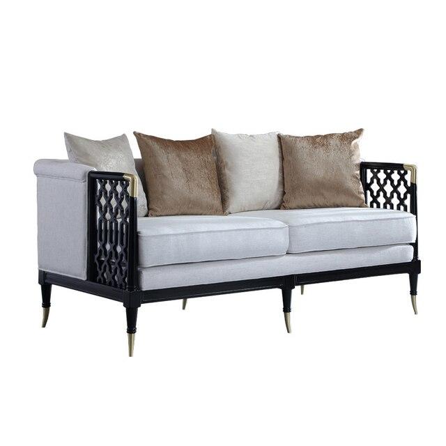 Stile cinese in legno massello divano set divano in tessuto moderno ...
