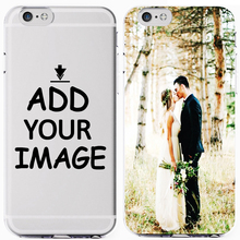 Custom Personalized Make Your Pattern Photo images Fashion Soft Clear Phone Case Cover For iPhone 7 6 6S 8Plus 5S X XS XR XSMax