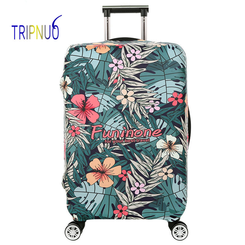 TRIPNUO Travel Luggage Cover Elastic Trolley Flowers Suitcase Cover Apply 18-32inch Women's Men's Protect Case Accessories