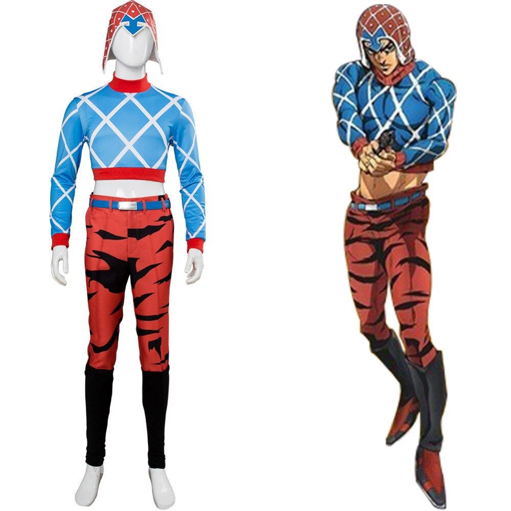 Golden Wind Guido Mista Cosplay Costume Uniform Suit JoJo/'s Bizarre Adventure