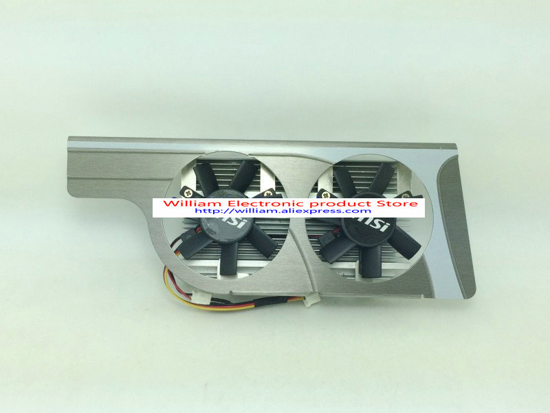 New Original for MSI GT430 graphics card cooler dual fan radiator 41 * 23MM knife cards 4pin mgt8012yr w20 graphics card fan vga cooler for xfx gts250 gs 250x ydf5 gts260 video card cooling