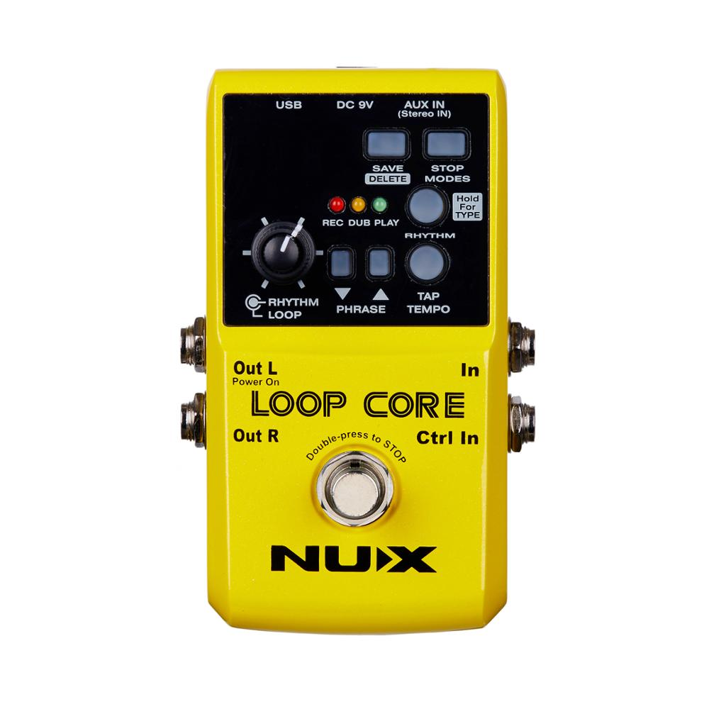NUX Loop Core Guitar Effect Pedal 99 user memories 6 Hours recording time True Bypass 40 built-in drum patterns цена