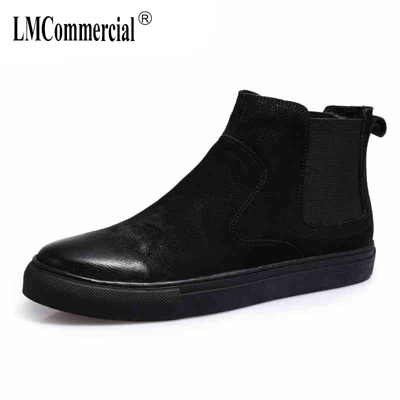 Martins casual shoes men's high-heeled shoes boots men retro British autumn short boots male all-match cowhide cashmere Leisure new winter boots martin male tide high velvet warm shoes men british short boots all match cowhide cashmere men s casual shoes