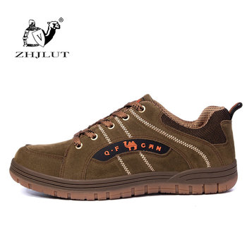 ZHJLUT Brand Comfortable Breathable High Quality Men Shoes Mens Sneakers Lace Up PU Suede Leather Walking Shoes Men Sport Shoes
