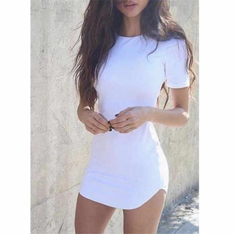 女性ドレスボディコン半袖イブニングパーティーセクシーなクラブウェアペンシルミニドレス 2019 最新のホット販売夏 vestidos デ · verano に elbise