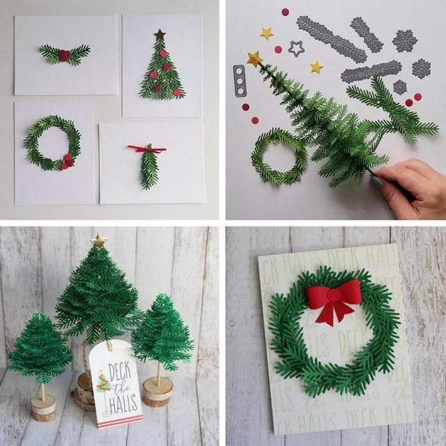 1Set Christmas Cutting Dies Stencils DIY Scrapbooking Embossing ...