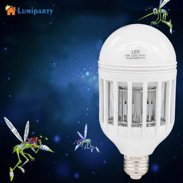 US $10 45 37% OFF|Lumiparty LED Bulbs E27 Light Anti mosquito Lamp With  Clean Brush AC 85~265V Insect Fly Attract Killer Super Bright-in LED Bulbs  &