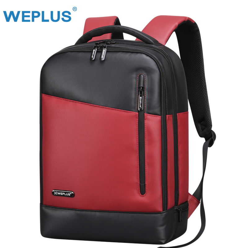 Weplus Backpack Leather Laptop Backpack Female Anti Theft Travel Bag School Shoulder Bag Bagpack Mochila Men Backpack
