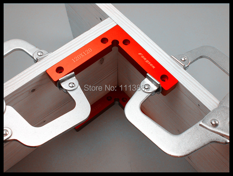 Купить с кэшбэком New 1 Pair(2pcs) 120mm x 120mm(100mm x 100mm) L-Squre Clamping Squares Pair 90 Degree Try Square Angle Ruler